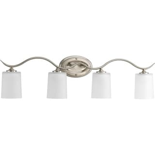 Progress Lighting Silvertone Inspire Collection 4-light Brushed Nickel Bath Light