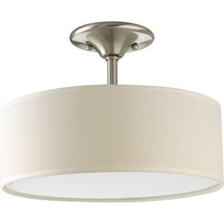 Progress Lighting Silvertone 2-light Semi-Flush