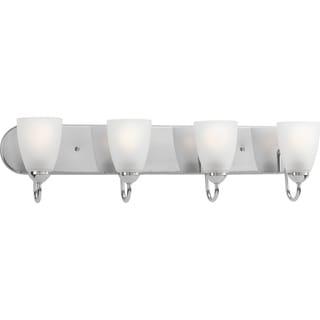 Progress Lighting Silvertone Gather Collection 4-light Polished Chrome Bath Light