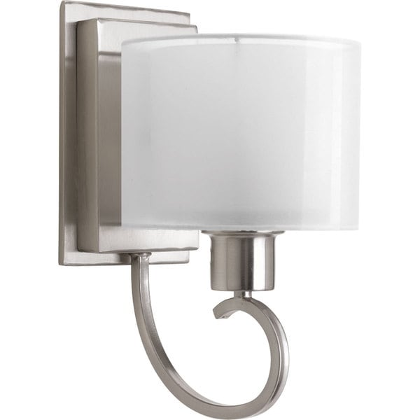 Progress Lighting Silvertone Invite Collection 1-light Brushed Nickel Wall Bracket