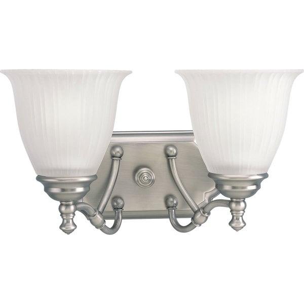 Progress Lighting Silvertone  Renovations Collection 2-light Antique Nickel Bath Light 13781083