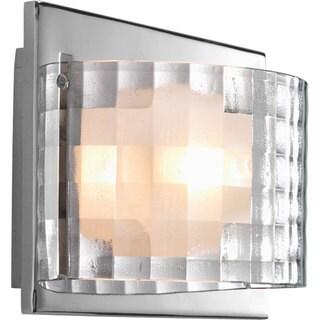 Progress Lighting Silvertone Cliche Collection 1-light Polished Chrome Bath Light With Bulb
