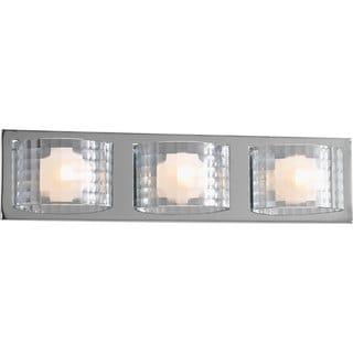 Progress Lighting Silvertone Cliche Collection 3-light Polished Chrome Bath Light With Bulb