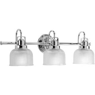 Progress Lighting Silvertone Archie Collection 3-light Chrome Bath Light