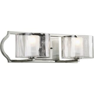 Progress Lighting Silvertone Caress Collection 2-light Polished Nickel Bath Light With Bulb