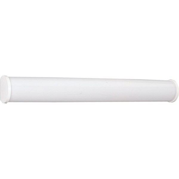 Progress Lighting White Cylindrical 2-light Linear Fluorescent Bath