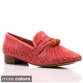 Nvy Women's 'Bobbie' Embossed Tassel Loafers