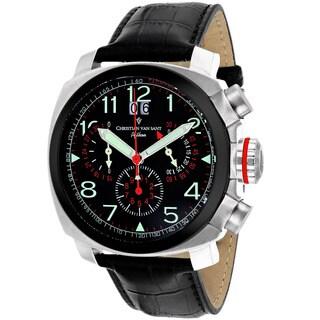 Christian Van Sant Men's Black Grand Python Chronograph Watch