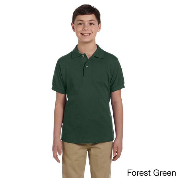 Youth Ringspun Cotton Pique Polo