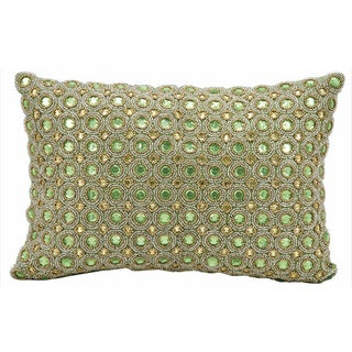 Nourison kathy ireland Beaded Green Throw Pillow