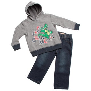 Boys Crocodile Hoodie and Jeans 2-piece Clothing Set