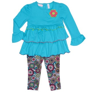 Kids Headquarters Toddler Girl 2-piece Ruffle Tunic and Floral Leggings