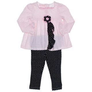 Kids Headquarters Toddler Girl 2-piece Stripe/ Flower Tunic and Leggings
