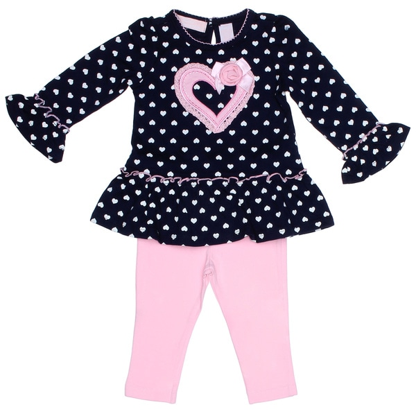 Kids Headquarters Infant Girl 2-piece Heart Tunic with Leggings
