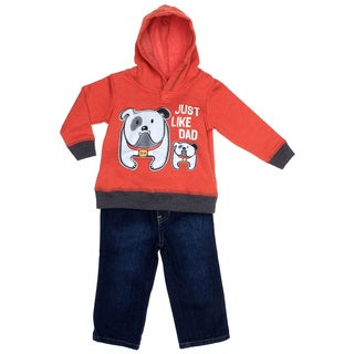 Kids Headquarters Infant Boy 2-piece Bulldog Hoody with Jeans