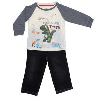 Kids Headquarters Infant Boy 2-piece Dino Raglan with Jeans