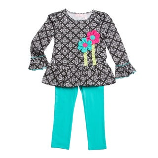 Kids Headquarters Girl (4-6x) 2-piece Toile Tunic with Leggings