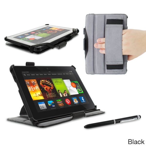 roocase Slim Fit Folio Case Cover with Stylus for Amazon Kindle Fire HDX 7