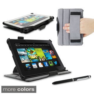 rooCASE Slim Fit Folio Case Cover with Stylus for Amazon Kindle Fire HD 7 2013