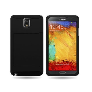 Hybrid Dual Layer Case with Credit Card Holder for Samsung Galaxy Note 3
