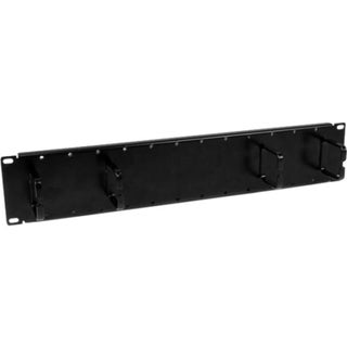StarTech.com 2U Double-Sided Horizontal Cable Management Panel with F