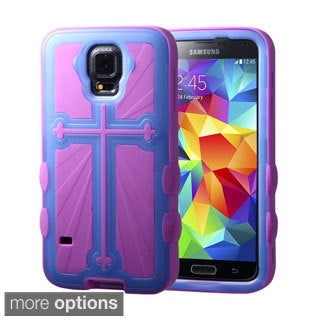INSTEN Rugged Glow Shock Proof PC Soft Silicone Hybrid Phone Case Cover for Samsung Galaxy S5