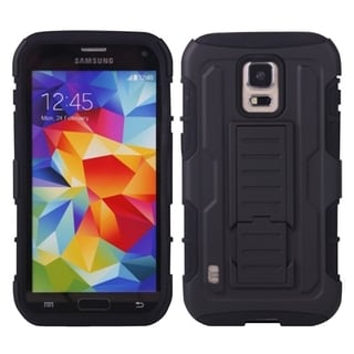 BasAcc Rugged Holster Stand PC Silicone Hybrid Case for Samsung Galaxy S5 Active