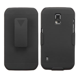 BasAcc Rubberized Dust Proof Hybrid Case Holster for Samsung S5 Active G870
