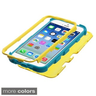 INSTEN Colorful Shock Proof PC Soft Silicone Hybrid Phone Case Cover for Apple iPhone 6 4.7-inch