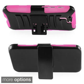 BasAcc Rugged Holster Stand PC Silicone Hybrid Case for Asus PadFone X