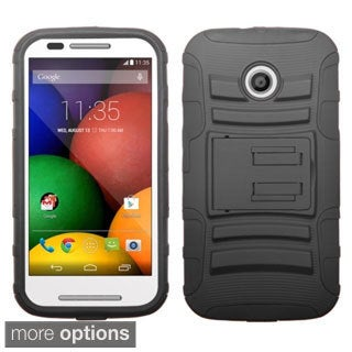 BasAcc Rugged Shock Proof Stand PC Silicone Hybrid Case for Motorola Moto E