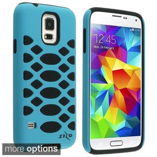 INSTEN Rugged Shock Proof PC Soft Silicone Hybrid Phone Case Cover for Samsung Galaxy S5