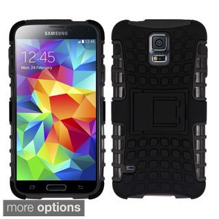 INSTEN Rugged Shock Proof Stand PC Soft Silicone Hybrid Phone Case Cover for Samsung Galaxy S5