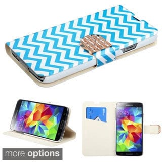 INSTEN Diamante Belt Wallet Stand Leather Phone Case Cover for Samsung Galaxy S5