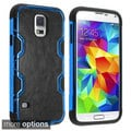 INSTEN Rugged Leatherette PC Soft Silicone Hybrid Phone Case Cover for Samsung Galaxy S5