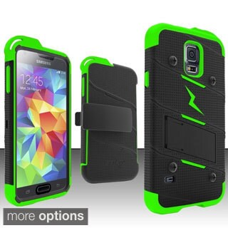 BasAcc Rugged Holster Stand PC Silicone Hybrid Case for Samsung Galaxy S5