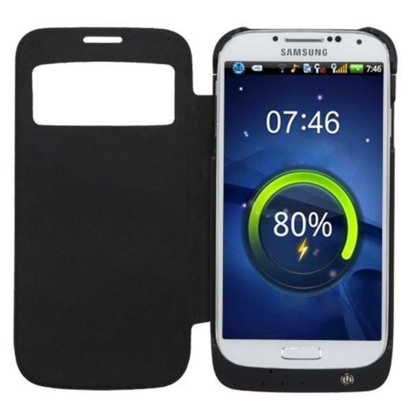 INSTEN With Stand View Section Energy Battery Phone Case Cover for Samsung Galaxy S4/ S IV