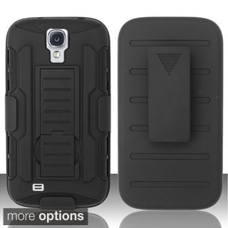 INSTEN Rugged Holster Stand PC Soft Silicone Hybrid Phone Case Cover for Samsung Galaxy S4/ S IV