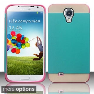 INSTEN Rugged Shock Proof PC Soft Silicone Hybrid Phone Case Cover for Samsung Galaxy S4/ S IV