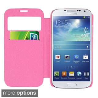 INSTEN Card Slot Smart Flap Pouch Back Phone Case Cover for Samsung Galaxy S4/ S IV
