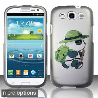 INSTEN Rubberized Pattern Design Dust Proof Hard Plastic Phone Case Cover for Samsung Galaxy S3
