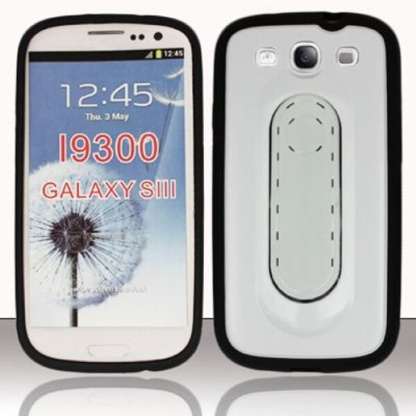 INSTEN with Tail Tongue Stand TPU Rubber Phone Case Cover for Samsung Galaxy S3