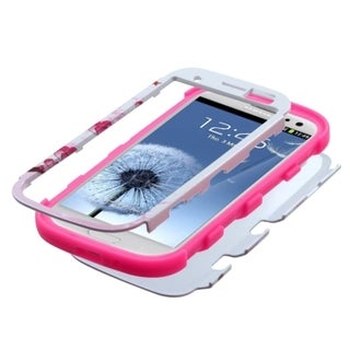 INSTEN Pattern Design Shock Proof PC Soft Silicone Hybrid Phone Case Cover for Samsung Galaxy S3
