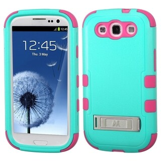 INSTEN Rugged Shock Proof Stand PC Soft Silicone Hybrid Phone Case Cover for Samsung Galaxy S3
