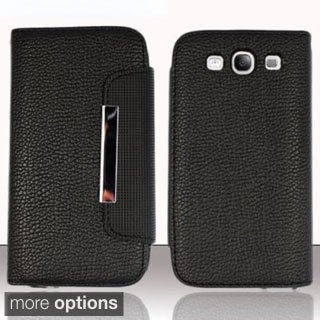 BasAcc Flap Lanyard Wallet Stand Leather Case for Samsung Galaxy S3