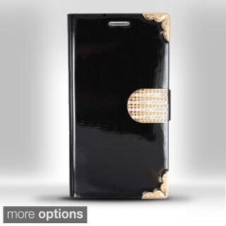 BasAcc Premium Luxury Diamante Belt Leather Case for Samsung Galaxy S3