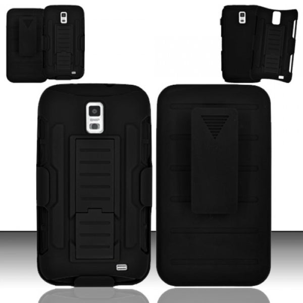 INSTEN Holster Stand PC Soft Silicone Hybrid Phone Case Cover for Samsung Galaxy S2 II Skyrocket