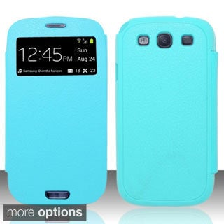 BasAcc View Section Flap Back Case for Samsung Galaxy S3/ III
