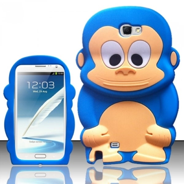 INSTEN Cartoon Cute Monkey Soft Silicone Rubber Phone Case Cover for Samsung Galaxy Note 2