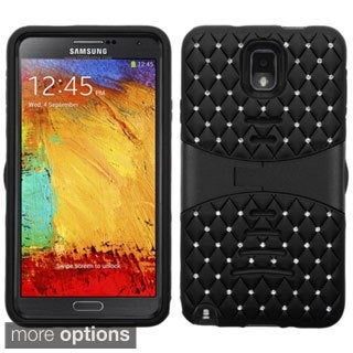 BasAcc Shock Proof Stand PC Silicone Hybrid Case for Samsung Galaxy Note 3